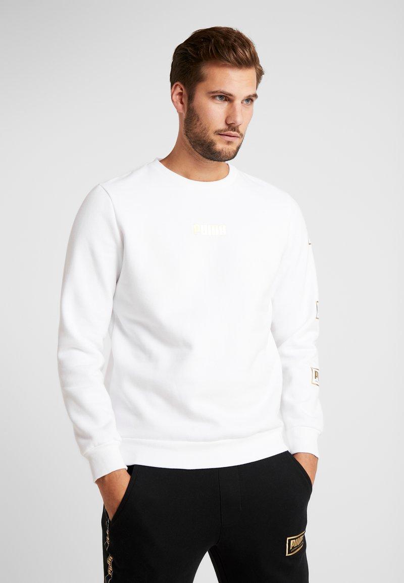 Puma - HOLIDAY PACK CREW - Sweatshirt - white