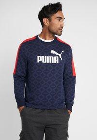 Puma - LOGO PACK CREW - Sweatshirt - peacoat - 0