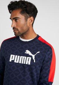 Puma - LOGO PACK CREW - Sweatshirt - peacoat - 4