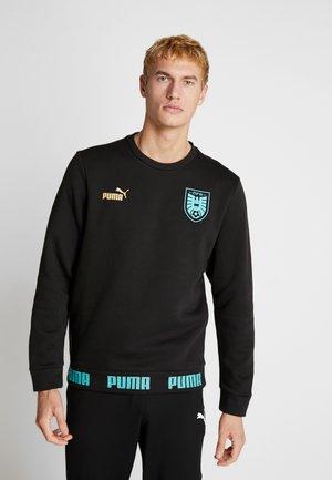ÖSTERREICH ÖFB CULTURE SWEATER - Club wear - black/blue/turquoise