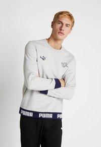 Puma - SCHWEIZ SFV CULTURE SWEAT - Sweatshirt - light gray heather - 0