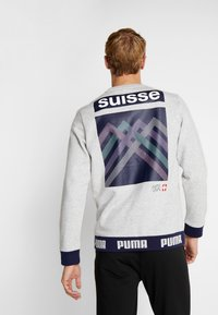 Puma - SCHWEIZ SFV CULTURE SWEAT - Sweatshirt - light gray heather - 2