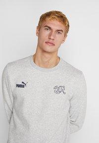 Puma - SCHWEIZ SFV CULTURE SWEAT - Sweatshirt - light gray heather - 3