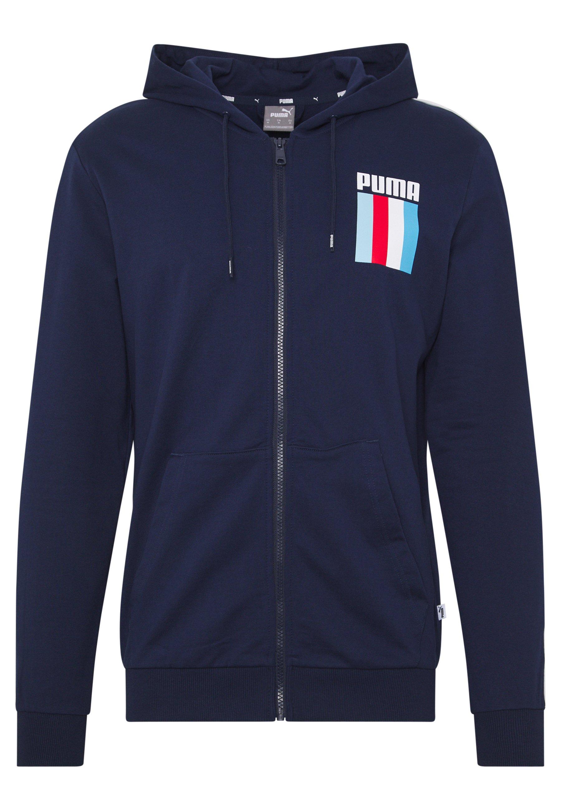 Puma CELEBRATION HOODIE - Zip-up hoodie - peacoat