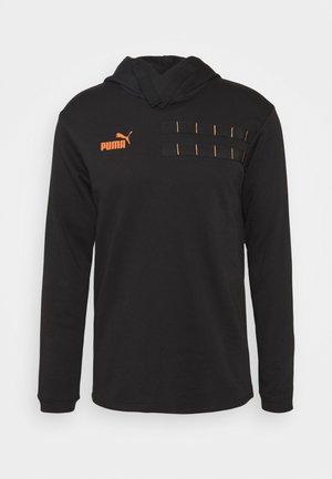 CASUALS HOODY - Hoodie - black/fizzy orange