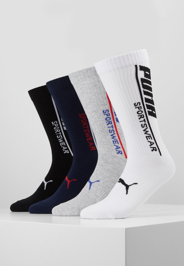 MEN LOGO SOCK 4 PACK - Calcetines de deporte - black/white