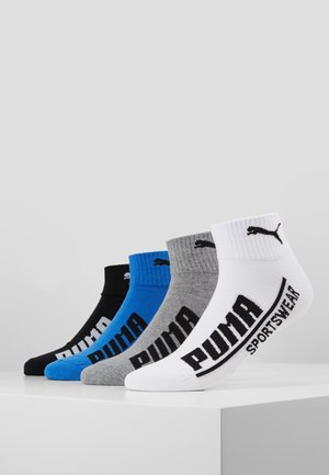MEN LOGO QUARTER 4 PACK - Calcetines de deporte - blue/red
