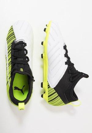 ONE 5.3 FG/AG - Botas de fútbol con tacos - white/black/yellow alert