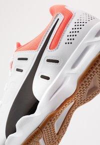 Puma - AURIZ - Multicourt tennis shoes - white/black/nrgy red - 2