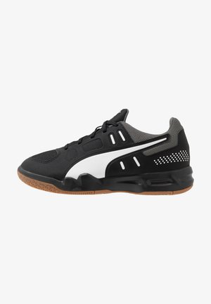 AURIZ - All court tennisskor - black/white/castlerock
