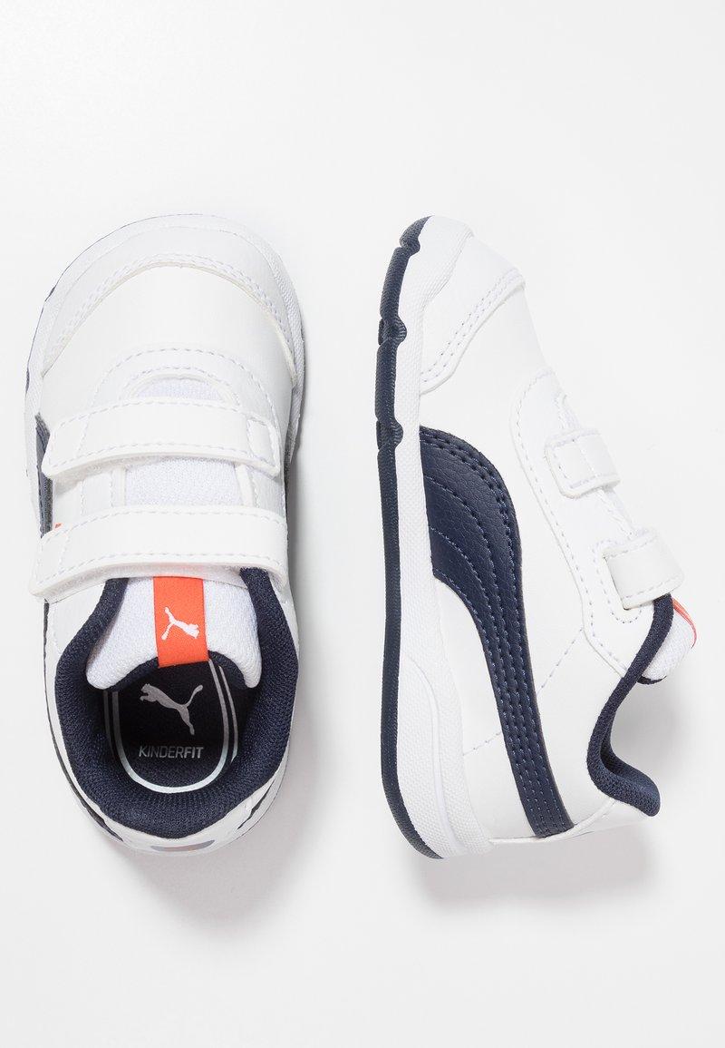 Puma - STEPFLEEX 2 - Sports shoes - white/peacoat/cherry tomato
