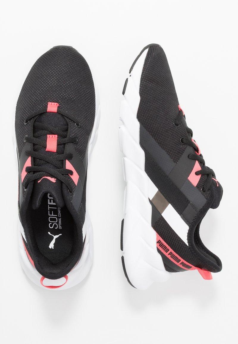 Puma - WEAVE XT - Trainings-/Fitnessschuh - black/white/calypso coral