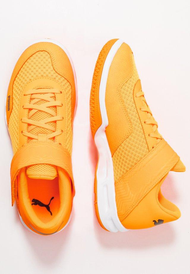 RISE XT - Handball shoes - orange alert/ black/white