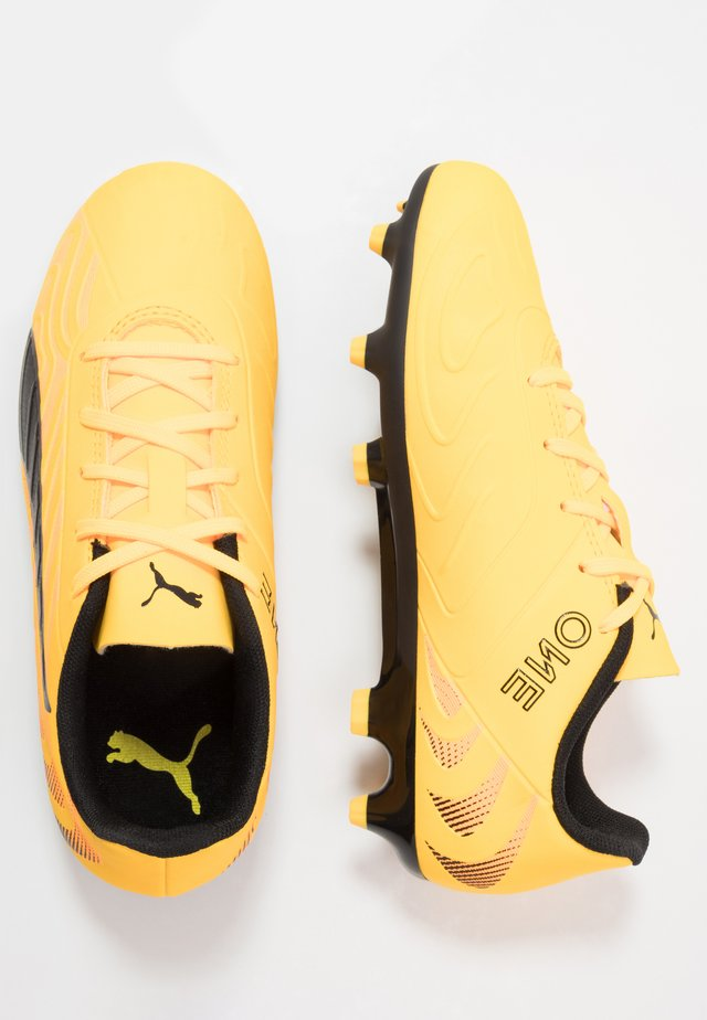 ONE 20.4 FG/AG - Moulded stud football boots - ultra yellow/black/orange alert