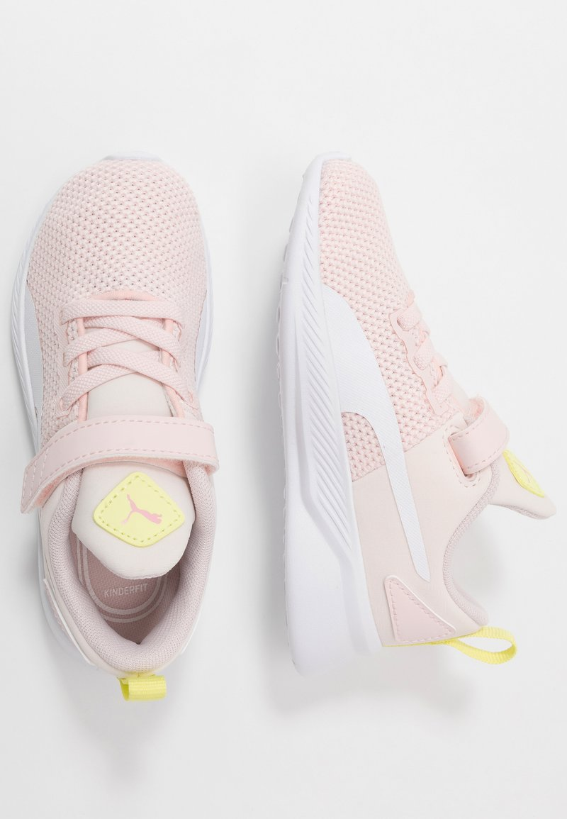 Puma - FLYER RUNNER - Neutral running shoes - rosewater/white/sunny lime/peony/black