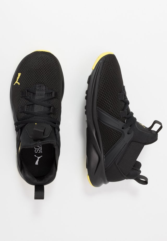 ENZO 2 WEAVE  - Neutral running shoes - black/meadowlark