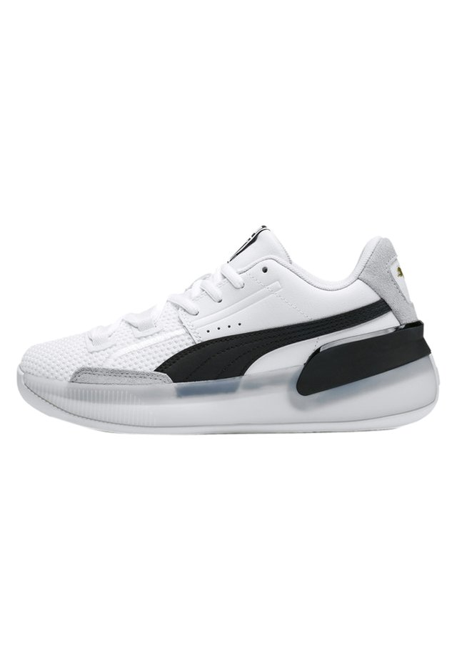 PUMA CLYDE HARDWOOD YOUTH BASKETBALL SHOES UNISEX - Basketball shoes - puma white