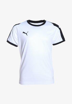 LIGA  - Funkční triko - white/black