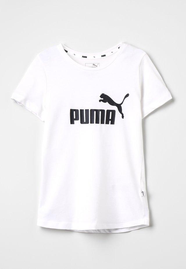ESS TEE - T-shirt z nadrukiem - white