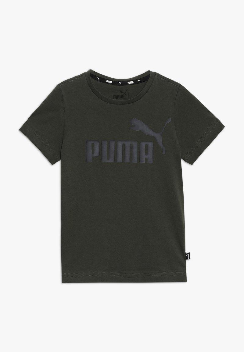 Puma - LOGO TEE - T-shirt med print - forest night