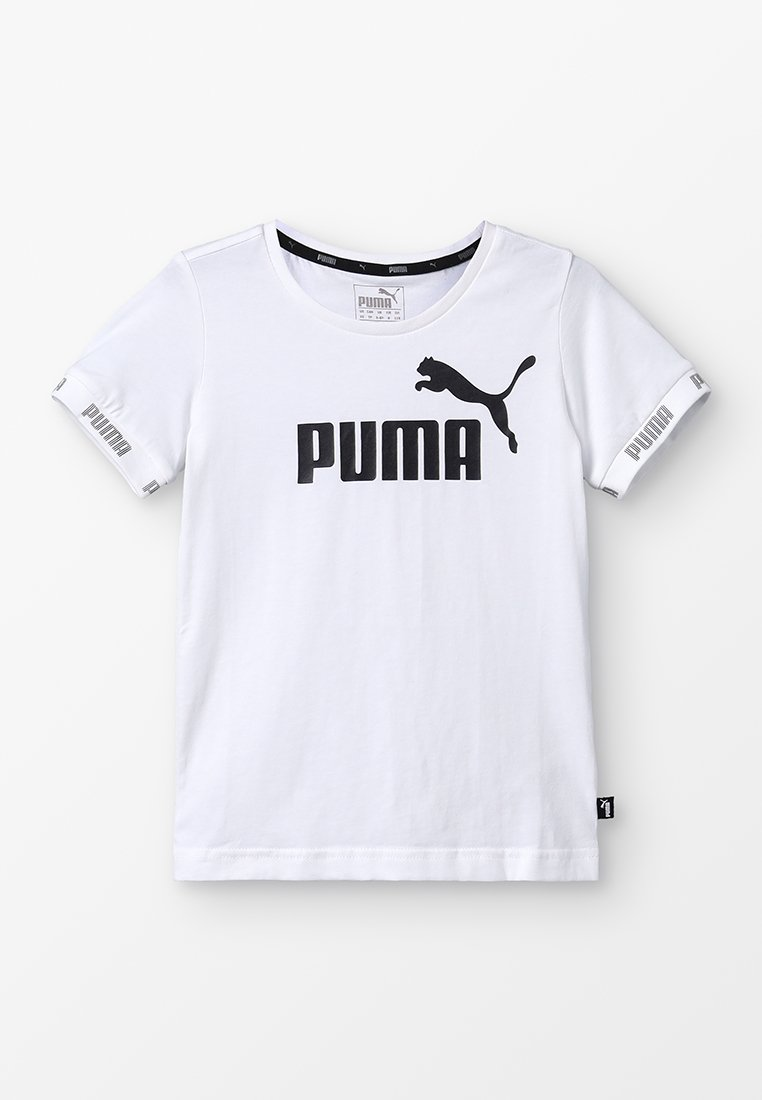 Puma - AMPLIFIED TEE - T-Shirt print - puma white