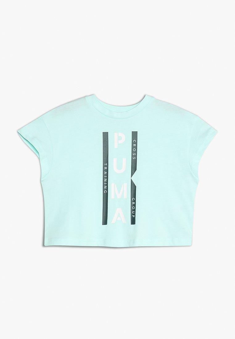 Puma - GRAPHIC TEE - T-shirt z nadrukiem - fair aqua