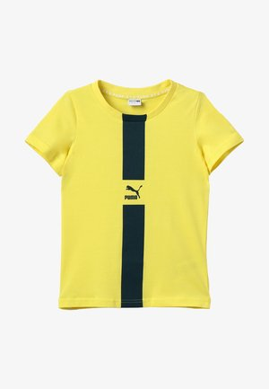 PUMA XTG TEE  - T-shirt imprimé - blazing yellow