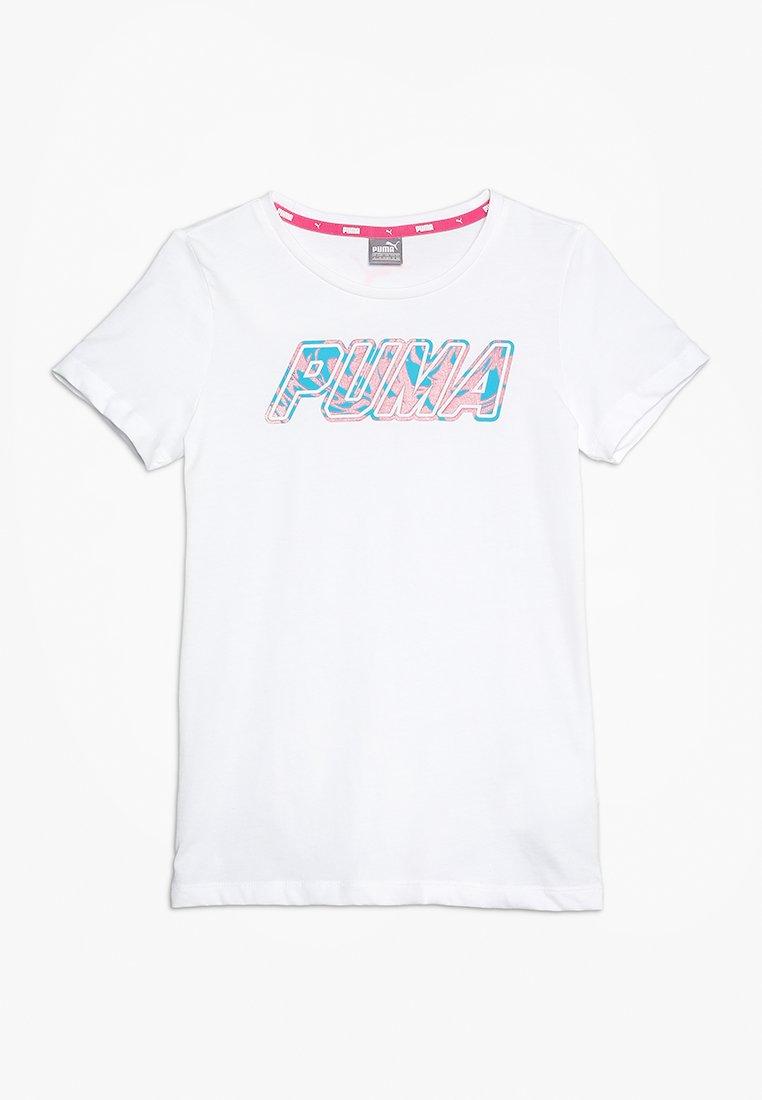 Puma - ALPHA LOGO TEE - T-Shirt print - white