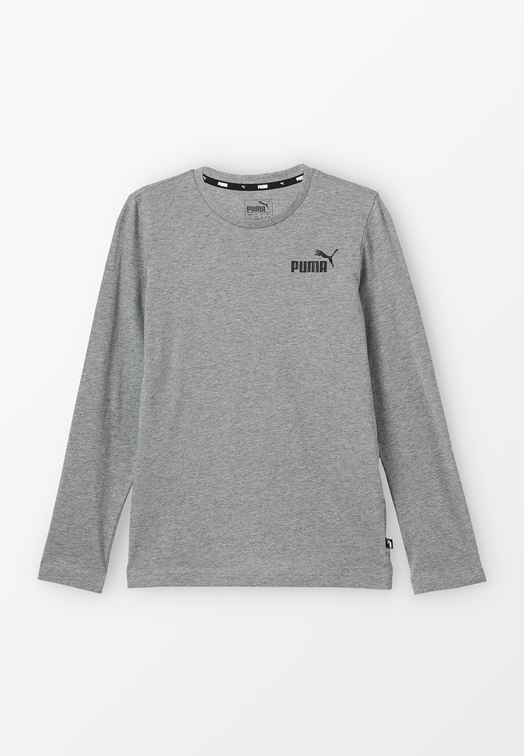 Puma - LOGO LONGSLEEVE  - Langarmshirt - medium grey heather