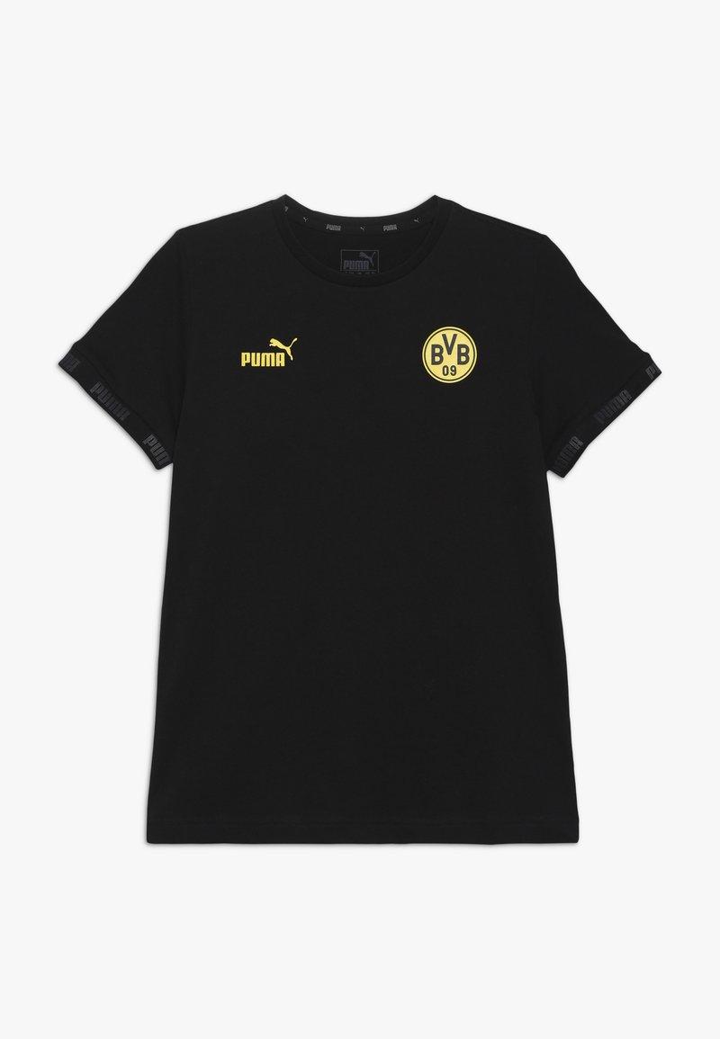 Puma - BVB BORUSSIA DORTMUND CULTURE TEE  - Print T-shirt - black