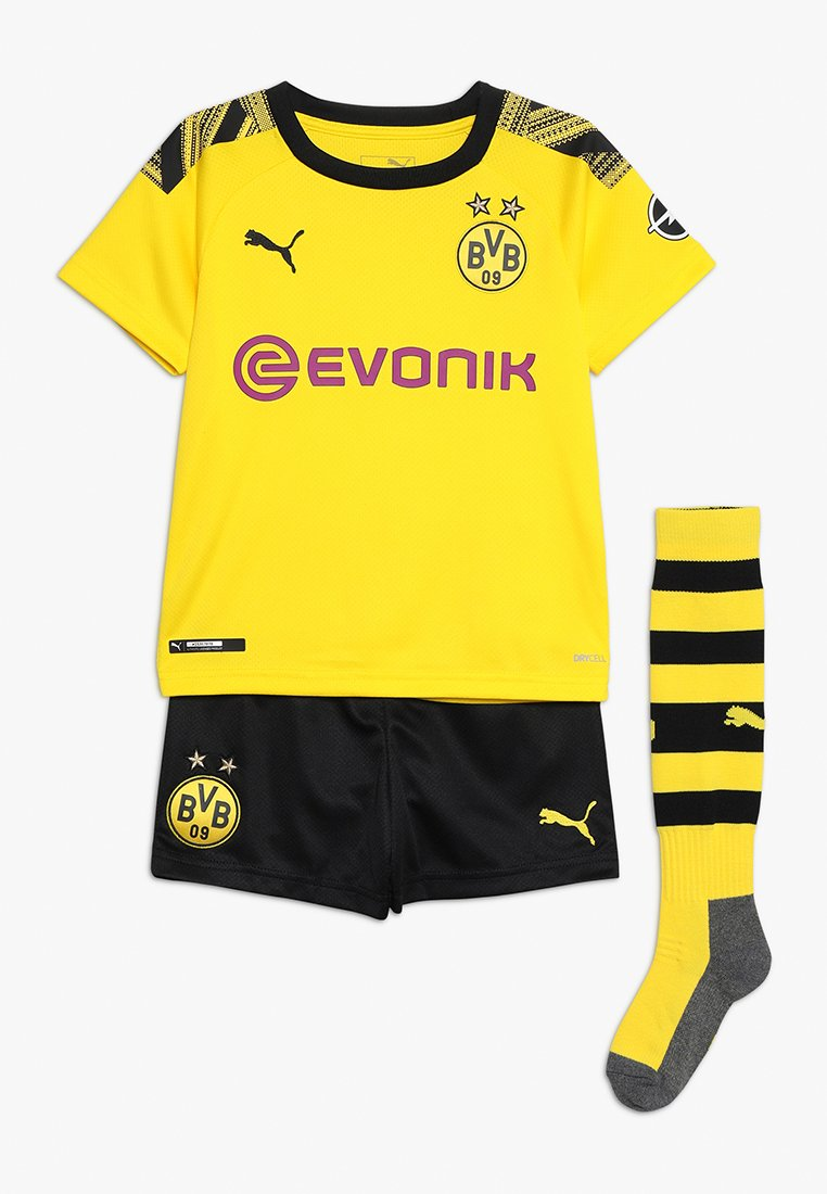 Puma - BVB BORUSSIA DORTMUND HOME MINIKIT WITH SOCKS WITH EVONIK LOGO SET - Article de supporter - cyber yellow/puma black