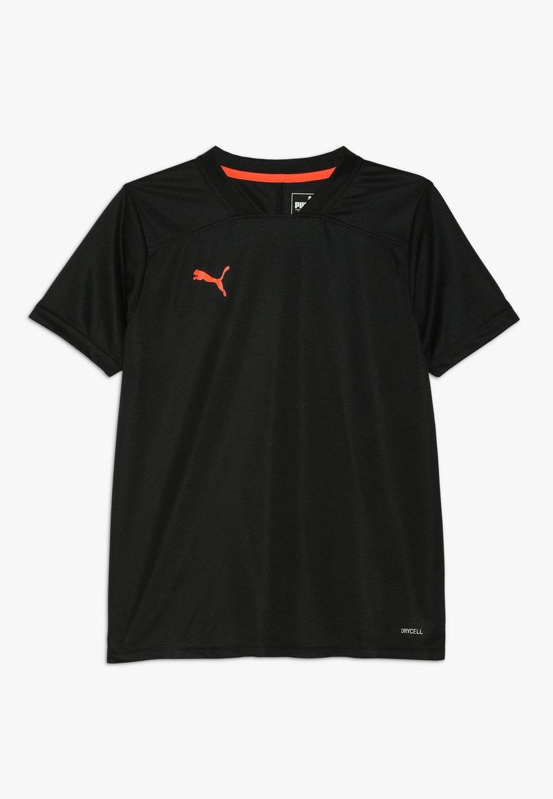 Puma - T-Shirt print - black/energy red