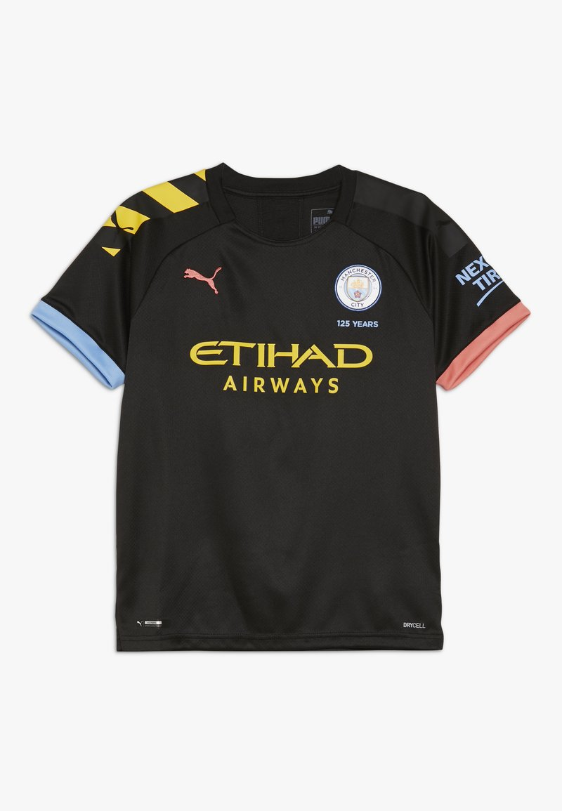 Puma - MANCHESTER CITY AWAY SHIRT  - Klubtrøjer - black/georgia peach