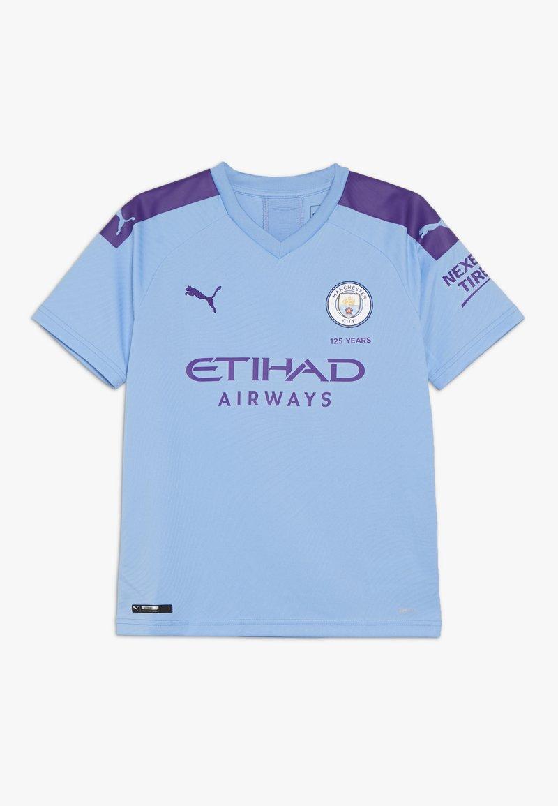 Puma - MANCHESTER CITY HOME REPLICA WITH SPONSOR LOGO - Camiseta estampada - team light blue/tillandsia purple