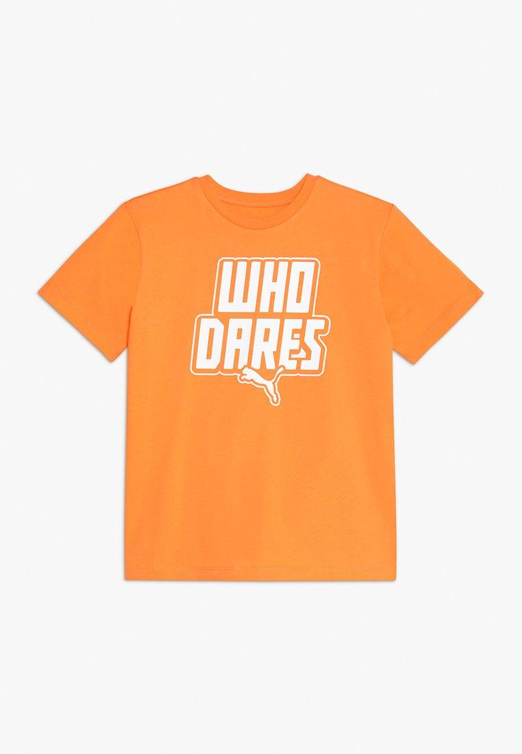 Puma - PUMA X ZALANDO GRAPHIC  - T-Shirt print - tangerine