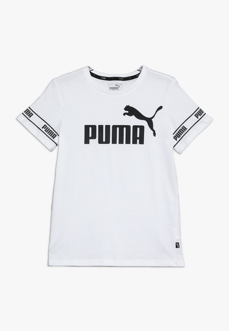Puma - AMPLIFIED TEE - T-Shirt print - puma white