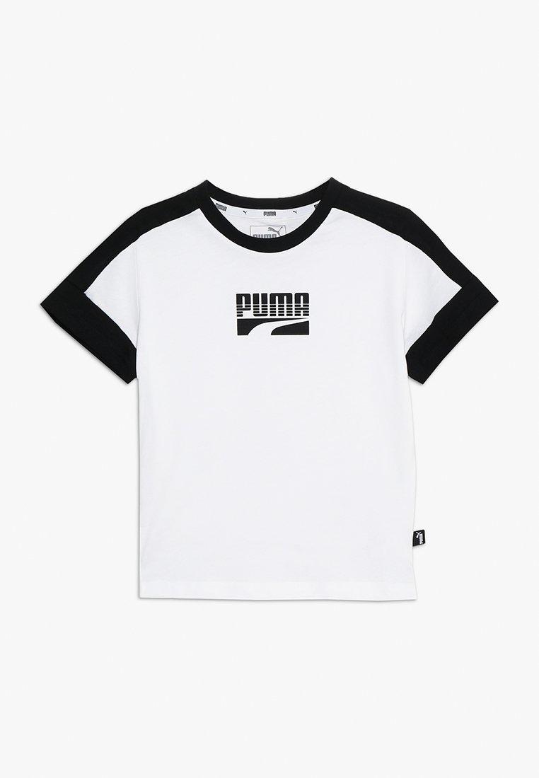 Puma - REBEL BLOCK TEE - T-shirt med print - puma white