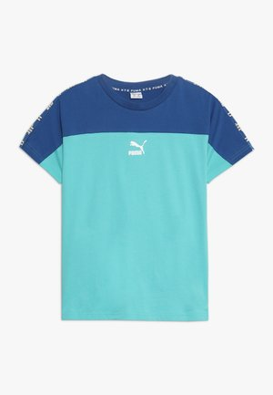 PUMA XTG TEE - T-shirt con stampa - blue/turquoise
