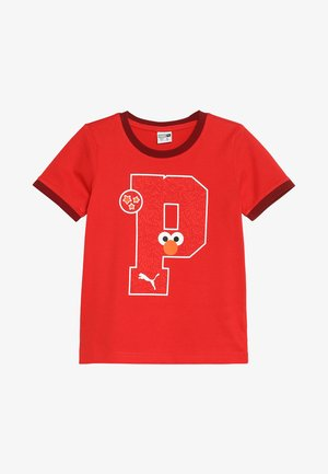 SESAME STREET GRAPHIC TEE - T-shirt print - high risk red