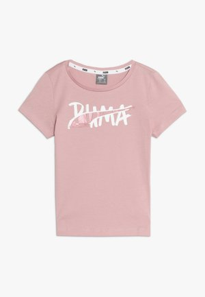 ALPHA LOGO TEE - Camiseta estampada - bridal rose