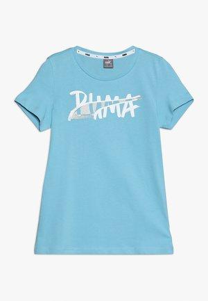 ALPHA LOGO TEE - T-shirt imprimé - milky blue