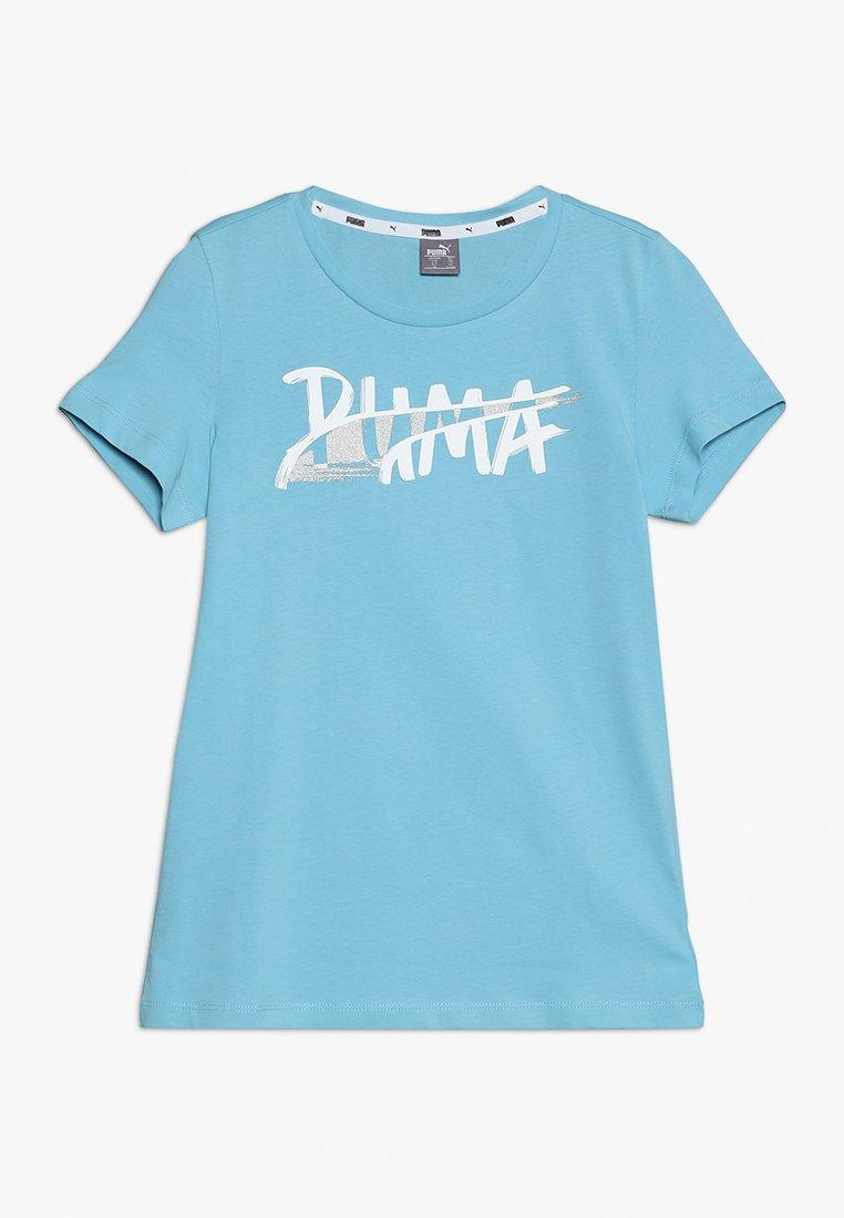 Puma - ALPHA LOGO TEE - T-Shirt print - milky blue