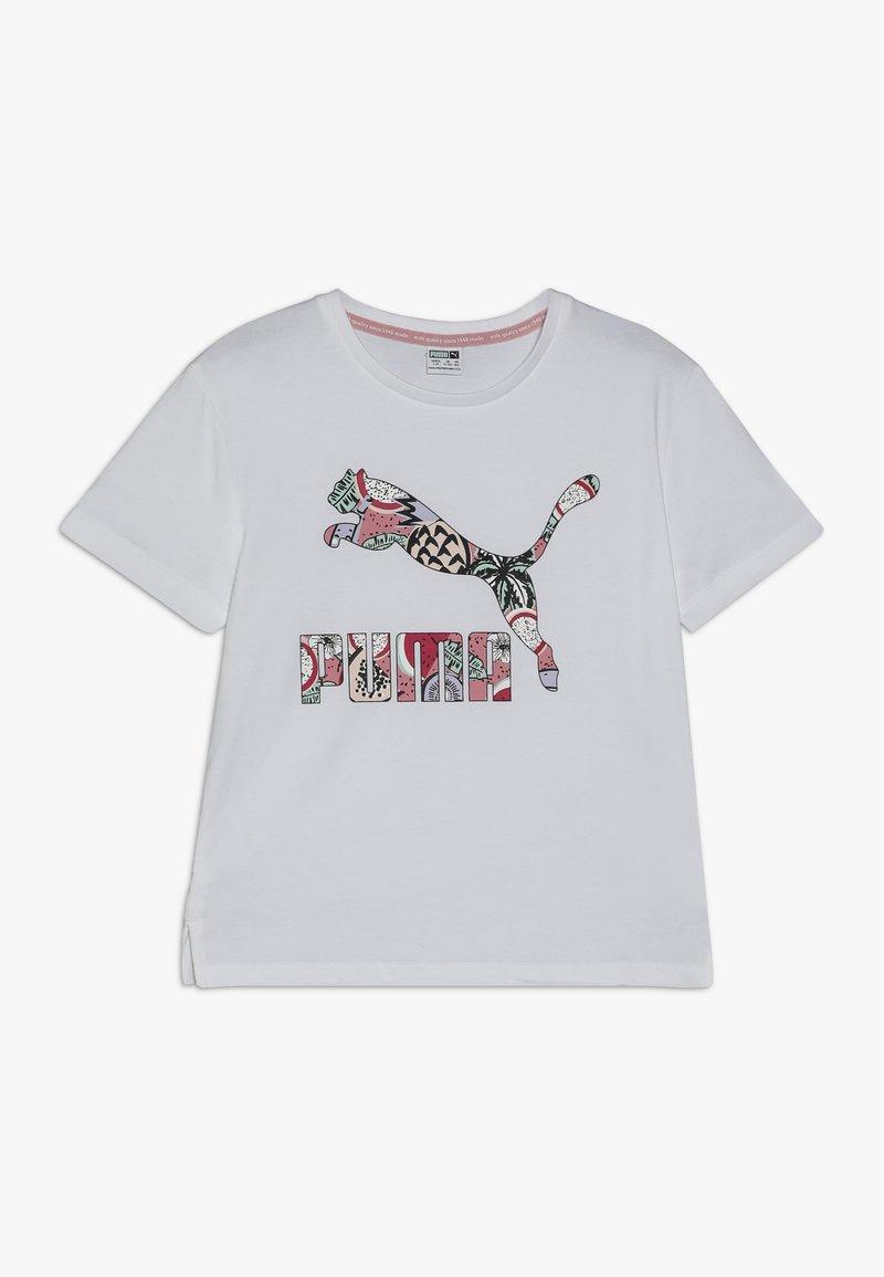 Puma - CLASSICS TEE - T-shirt con stampa - white
