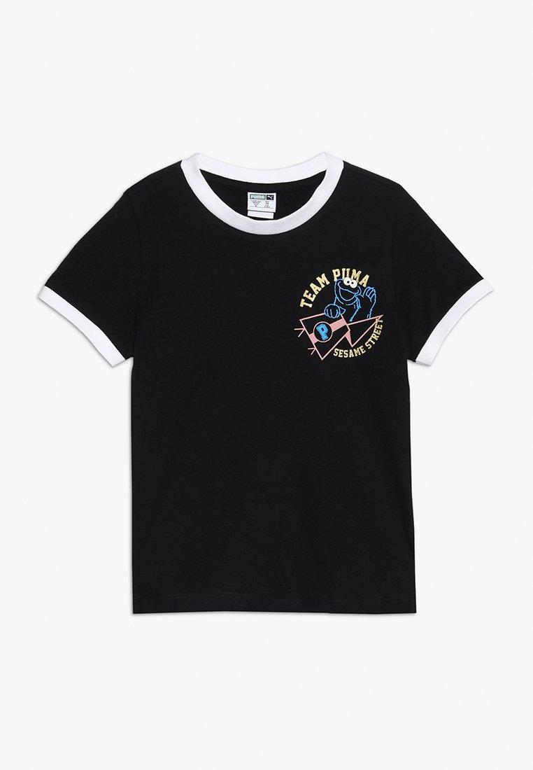 Puma - SESAME STREET TEE  - T-shirts print - black