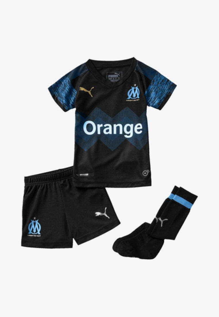 Puma - OLYMPIQUE DE MARSEILLE KIDS - Shorts - black-azure blue