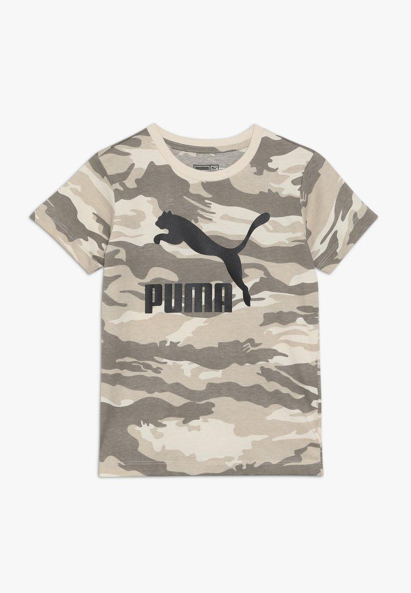 Puma - PUMA X ZALANDO CAMO LOGO TEE - T-shirt med print - white swan