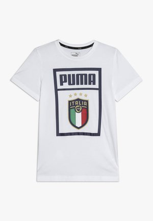 ITALIEN FIGC PUMA DNA TEE JUNIOR - Oblečení národního týmu - white