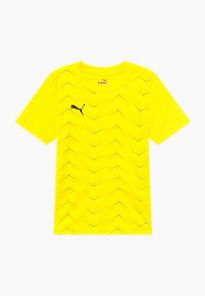 FTBLNXT GRAPHIC CORE - Print T-shirt - ultra yellow/black