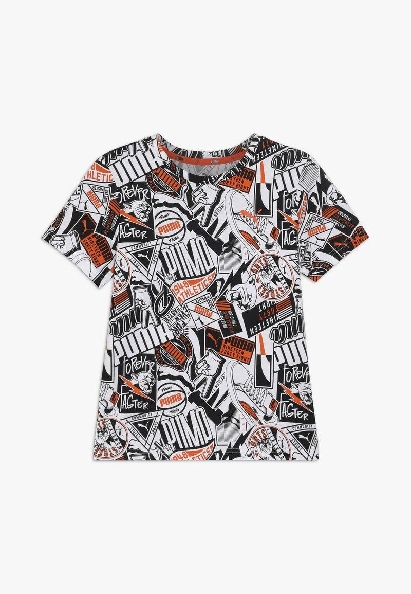 Puma - ALPHA TEE - T-shirt imprimé - white