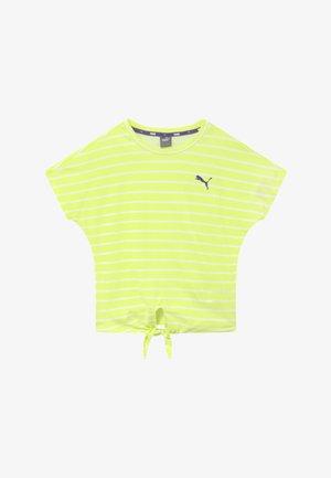 ALPHA STRIPED TEE - Print T-shirt - sunny lime